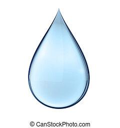 acqua, bianco, goccia, 3d