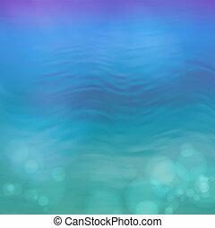 acqua blu, astratto, vettore, fondo