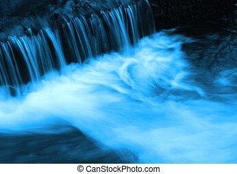 acqua blu, flusso
