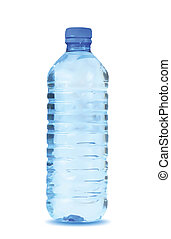 acqua blu, fondo., vettore, bottiglia, bianco