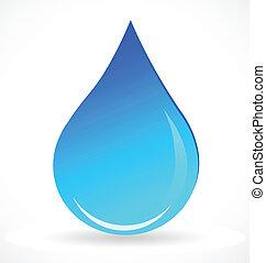 acqua blu, goccia, vettore, logotipo