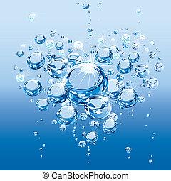 acqua, bolle, amore