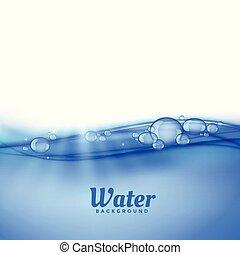 acqua, bolle, fondo, sotto