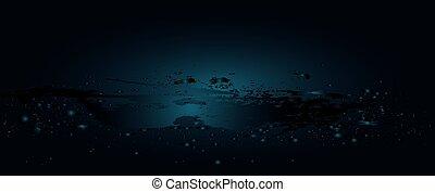 acqua, bolle, onda