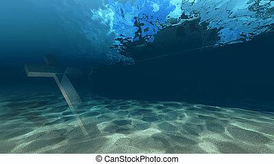 acqua, croce, sotto