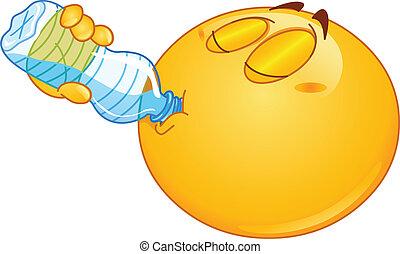 acqua, emoticon, bere