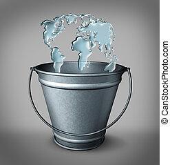 acqua, globale, concetto