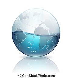 acqua, pianeta, dentro, terra