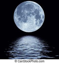 acqua, pieno, sopra, luna