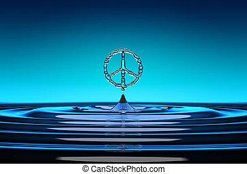 acqua, simbolo, gocce, pacifism, modellato