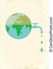 acqua, terra, rubinetto