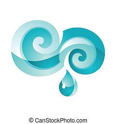acqua, turchese, segno