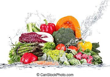 acqua, verdure fresche, cadere
