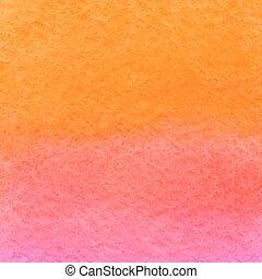acquarello, arancia, rosa, vettore