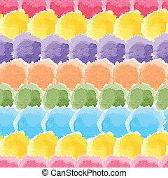 acquarello, arcobaleno, seamless, fondo