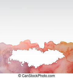 acquarello, astratto, blots, colorito, fondo
