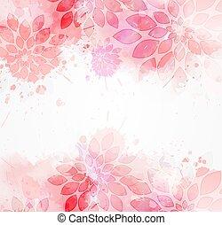acquarello, astratto, fiori, fondo