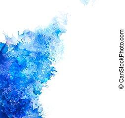 acquarello, blot., blu