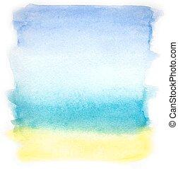 acquarello, colorito
