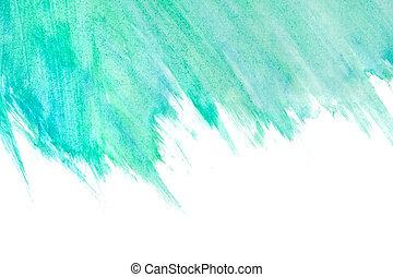 acquarello, dipinto, astratto, fondo, mano