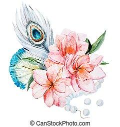 acquarello, fiori