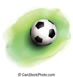 acquarello, football, fondo