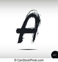 acquarello, lettera, calligraphic