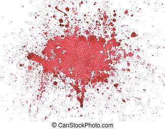 acquarello, sangue