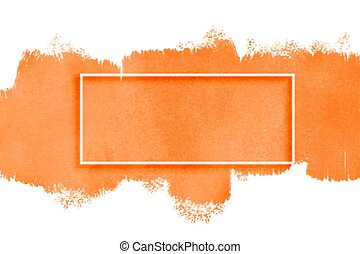 acquarello, struttura, spazio, testo, arancia