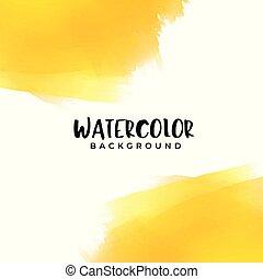 acquarello, testo, fondo, giallo, spazio