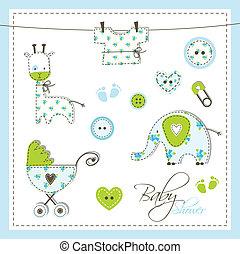 acquazzone bambino, elementi, disegno
