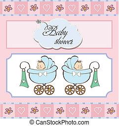 acquazzone bambino, gemelli, scheda