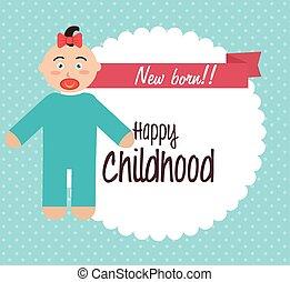 acquazzone bambino, infanzia, felice