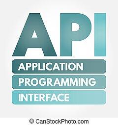 acronimo, -, programmazione, domanda, interfaccia, api