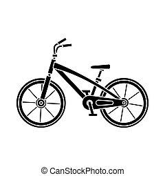 activity., bicicletta, fondo., casato, bianco, illustration., esterno