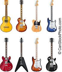 acustico, chitarre elettriche
