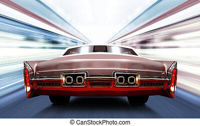 ad alta velocità, automobile, strada