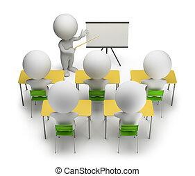 addestramento, persone, -, corsi, piccolo, 3d