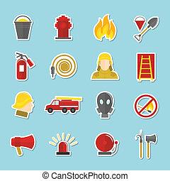 adesivi, antincendio, icone