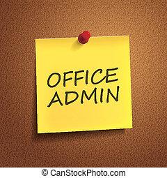 admin, ufficio, parole, posto-esso