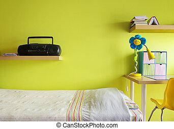 adolescente, camera letto