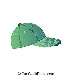 adolescente, semplice, berretto, isolato, baseball, fondo, bianco, vista laterale