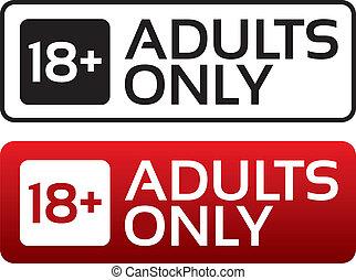 adulti, età, button., stamp., contenuto, soltanto, limite