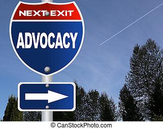 advocacy, segno strada