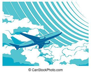 aereo passeggero, cielo