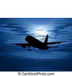 aereo, silhouette