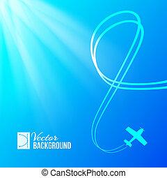 aeroplano blu, fondo