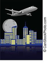 aeroplano, città