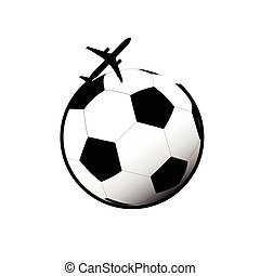 aeroplano, vettore, football