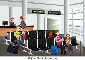 aeroporto, attesa
